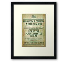 Resist the Plague infected undead Framed Print