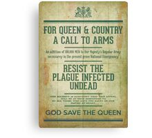 Resist the Plague infected undead Canvas Print