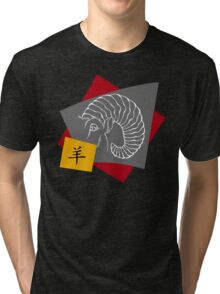 Chinese New Year of The Sheep Goat Ram Tri-blend T-Shirt