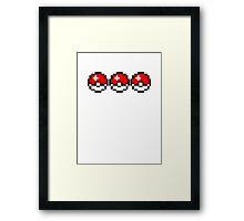 8 bit Pokeballs Framed Print