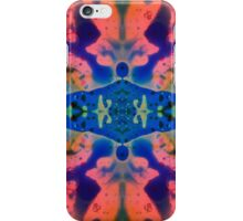 Pink Blue Psychedelic Pattern iPhone Case/Skin