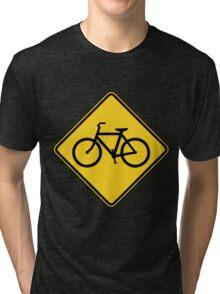 Bicycle Crossing Tri-blend T-Shirt