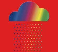Colorful weather - we love rainbow rain! raindrop, clouds, color Kids Tee