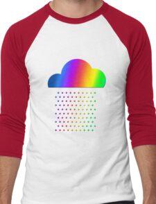 Colorful weather - we love rainbow rain! raindrop, clouds, color Men's Baseball ¾ T-Shirt