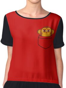 Pocket monkey is highly suspicious Chiffon Top