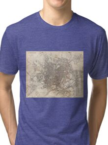 Vintage Map of Birmingham England (1839) Tri-blend T-Shirt