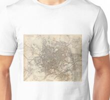 Vintage Map of Birmingham England (1839) Unisex T-Shirt