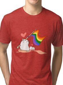 Hamster Pride Flag Tri-blend T-Shirt