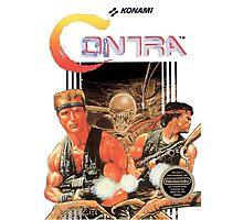 NES Contra Cover (Transparent)  Photographic Print