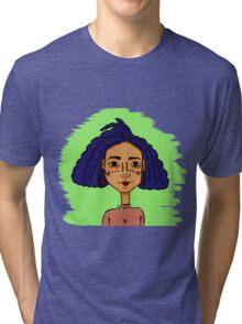"""""""She Blue Me Away"""" Tri-blend T-Shirt"""
