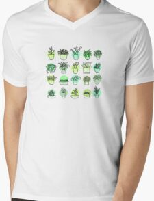 Hand drawn cactus collection  Mens V-Neck T-Shirt