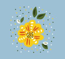 Yellow Primrose Flower Womens Fitted T-Shirt