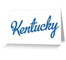 Kentucky Script Blue  Greeting Card