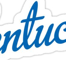 Kentucky Script Blue  Sticker