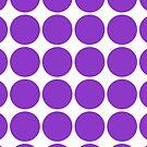 Violet Polka Dots by Toby Davis
