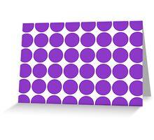 Violet Polka Dots Greeting Card