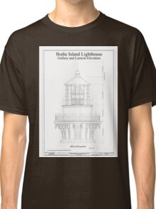 Vintage Bodie Island Lighthouse Blueprint Classic T-Shirt