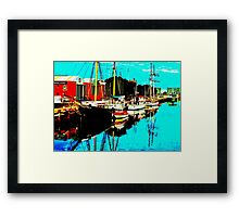 THREE BOATS -PORT ADELAIDE Framed Print