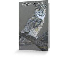Birthday Card - Original Drawing -Owl Greeting Card
