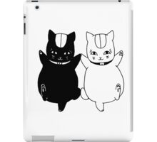 Nyanko-sensei and Nisenyanko-sensei iPad Case/Skin