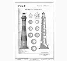 Vintage Bodie Island Lighthouse Diagram Unisex T-Shirt
