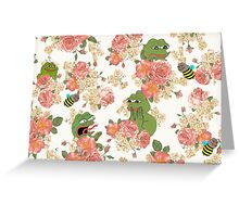 Pepe Floral Wallpaper Greeting Card