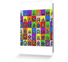 NES Robot Masters Greeting Card