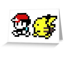 Ash and Pikachu Greeting Card