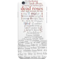 bowie heroes t-shirt - rose shirt iPhone Case/Skin