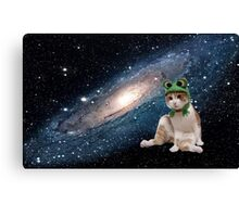 cat in space Canvas Print