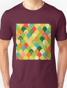 Cute,cool,colorful,egg head,pattern,fun trendy,abstract Unisex T-Shirt