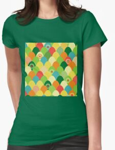Cute,cool,colorful,egg head,pattern,fun trendy,abstract Womens Fitted T-Shirt