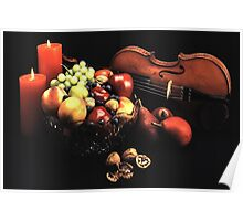 Still Life with Violin Poster