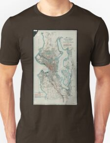Vintage Map of Seattle Washington (1911) Unisex T-Shirt