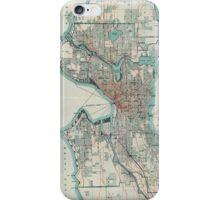 Vintage Map of Seattle Washington (1911) iPhone Case/Skin