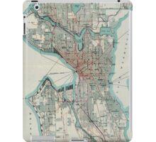 Vintage Map of Seattle Washington (1911) iPad Case/Skin
