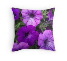 Many Purple Flowers Throw Pillow