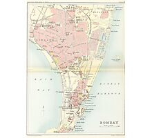 Vintage Map of Bombay India (1893) Photographic Print