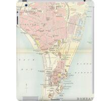 Vintage Map of Bombay India (1893) iPad Case/Skin