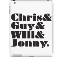 Coldplay Band Member List iPad Case/Skin