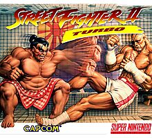 SNES Street Fighter II Turbo cover  Photographic Print