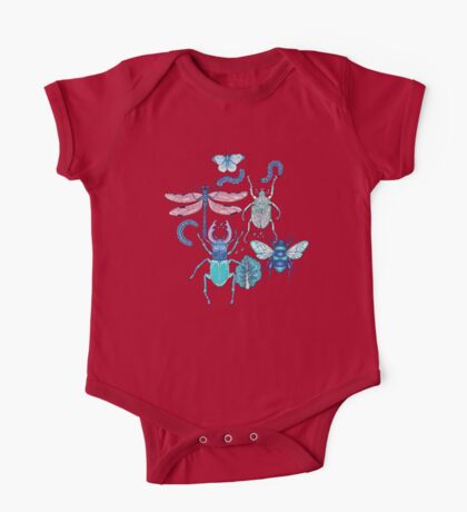 happy frozen blue bugs One Piece - Short Sleeve
