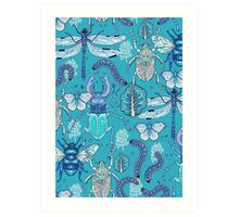 happy frozen blue bugs Art Print