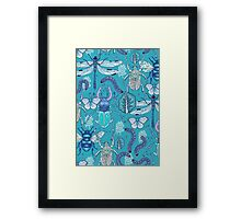 happy frozen blue bugs Framed Print