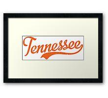 Tennessee Script Orange VINTAGE Framed Print