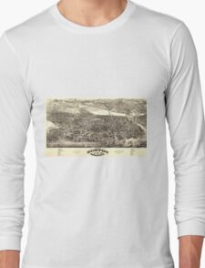 Vintage Pictorial Map of Boston (1880) Long Sleeve T-Shirt