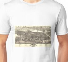 Vintage Pictorial Map of Boston (1880) Unisex T-Shirt