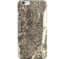 Vintage Pictorial Map of Boston (1880) iPhone Case/Skin