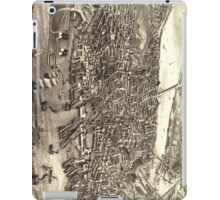 Vintage Pictorial Map of Boston (1880) iPad Case/Skin