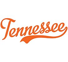 Tennessee Script Orange  Photographic Print